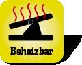 Piktogramm mit der Aufschrift Beheizbar
