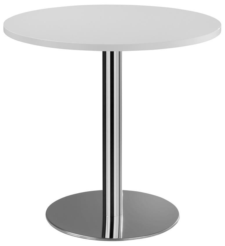 Runder moderner Beistelltisch mit weißer Platte