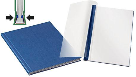Blaue Buchbindemappen von Leitz