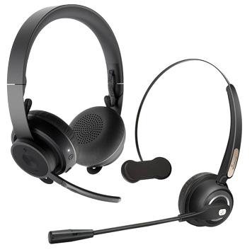 Bluetooth-Headset mit einem und mit zwei Ohrhören