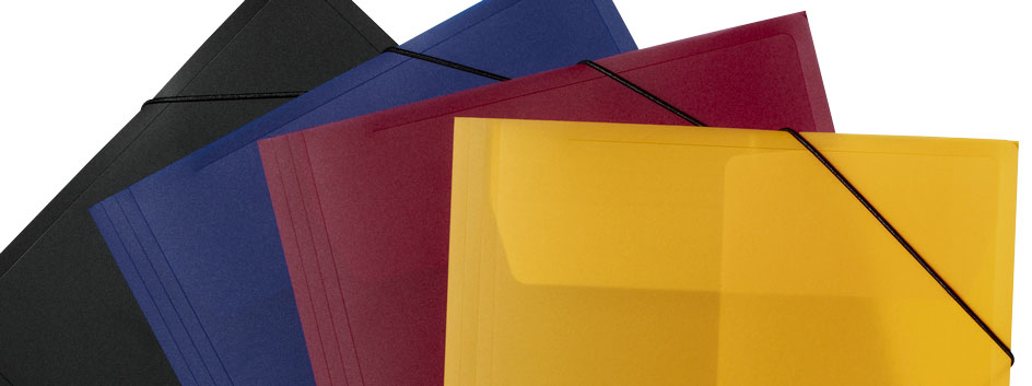 Eckspannmappen in 4 verschiedenen Farben