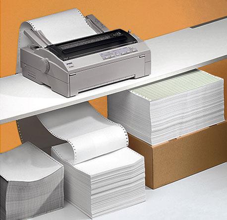 Endlospapier für den Drucker