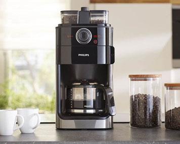 Philips Filterkaffeemaschine in Silber Schwarz