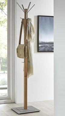 Standgarderobe aus Holz und Metall