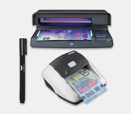 Verschiedene Geldscheinprüfgeräte