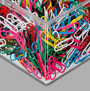 Plastik-Büroklammern