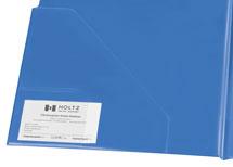 blaue Klemmbrettmappe mit Einstecktasche