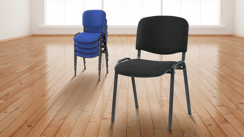 Farbige Konferenzstühle ohne Armlehnen