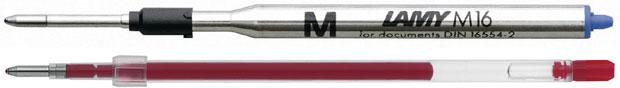 zwei verschiedenfarbige Kugelschreiberminen