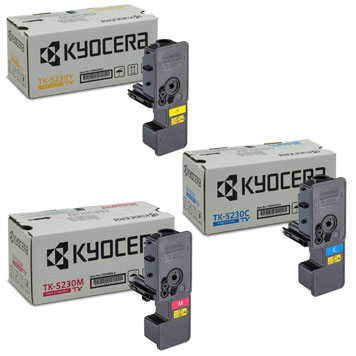 Kyocera Toner-Set mit drei Farben