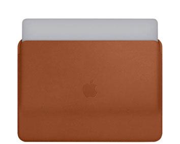 Braune Laptophülle aus Leder von Apple
