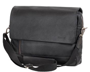 Schwarze Laptoptasche mit Schultergurt