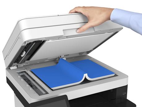 Kopieren oder Scannen eines Buches mit einem Laser-Multifunktionsgerät