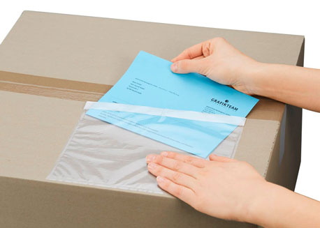 transparente Lieferschintaschen für Pakete