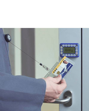 Jojo-Ausweishalter mit Druckknopfhalterung
