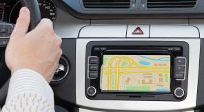 Navigationsgerät in Fahrzeug