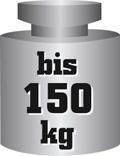 Gewicht mit der Aufschrift bis 150 Kilogramm