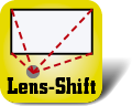 Piktogramm Lens-Shift