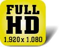 Piktogramm für Fernseher mit Full-HD-Auflösung