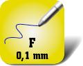 Piktogramm für feine Kugelschreiberminen