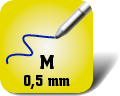 Piktogramm für mittelstarke Kugelschreiberminen
