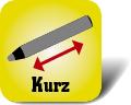 Piktogramm für kurze Malstifte