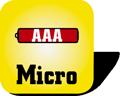Piktogramm Batterien Micro AAA