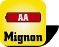 Piktogramm Batterien Mignon AA