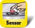 Piktogramm für Mülleimer mit Sensor