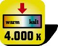 Piktogramm für Farbtemperatur in Kelvin