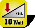 Piktogramm für Stromverbrauch in Watt