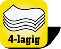Piktogramm für 4-lagige  Papierhandtücher