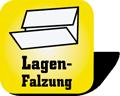 Piktogramm für Papierhandtücher mit Lagen-Faltung
