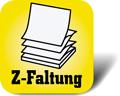 Piktogramm: Haftnotizen in Z-Faltung