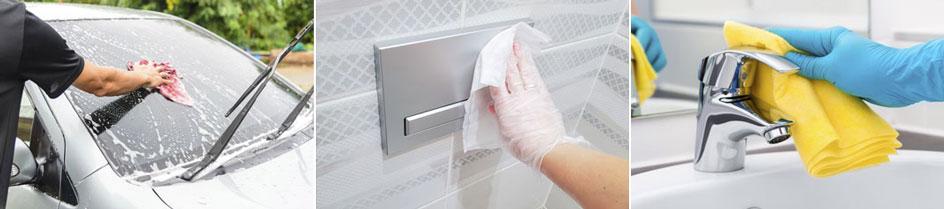 Putztücher für verschiedene Anwendungen