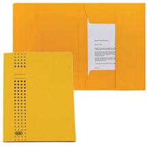 Gelbe Sammelmappe aus Pappe
