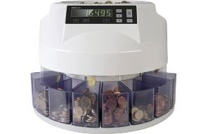 Eine elektronische Zählmaschine für Münzen