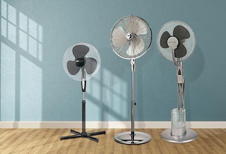 Abbildung verschiedener Ventilatoren