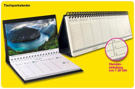 zwei verschiedene Tischquerkalender