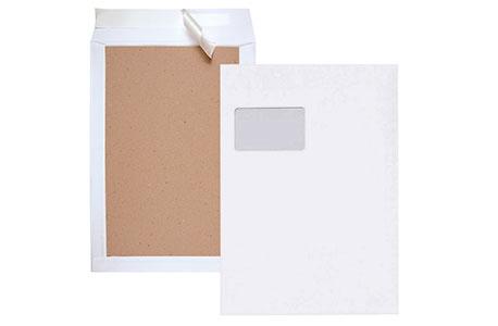 Versandtaschen mit Papierrückwand