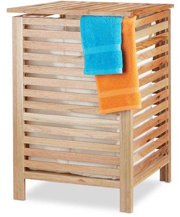 Wäschetruhe aus Holz von Relaxdays