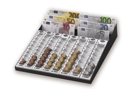 Ein Zählbrett für Münzen und Scheine