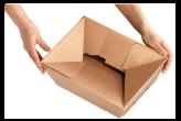 Blitzbodenkartons - spezielle Wellpapp-Faltkartons