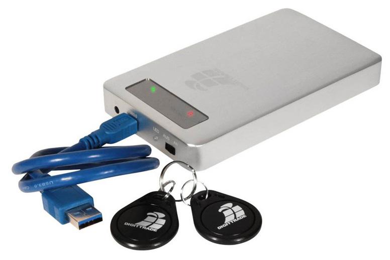 Festplatte mit Schlüssel