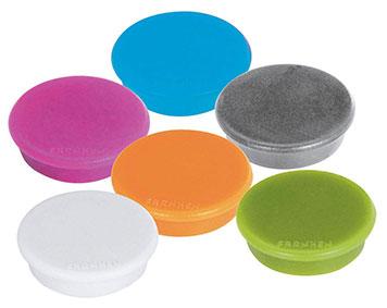 Haftmagnete in verschiedenen Farben