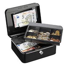 Geldkassette mit Münzfächern