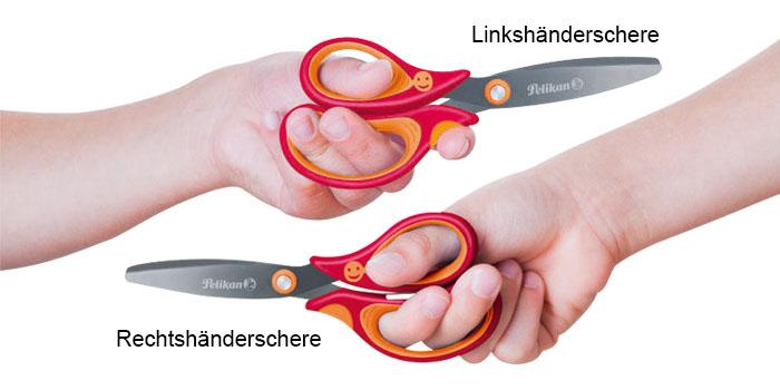 Unterschied Linkshänderschere und Rechtshänderschere