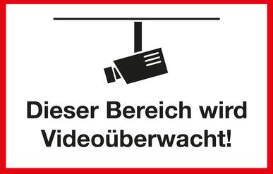 Hinweisschild Videoüberwachung