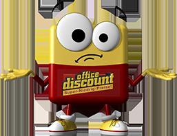 office discount Maskottchen Odi zuckt mit den Schultern
