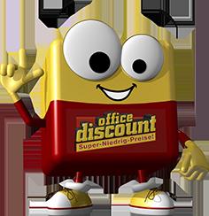 office discount Maskottchen Odi hat eine Idee